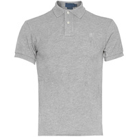 Mens polo t shirts - 100% Cotton Plain Grey Polo T Shirt For Men