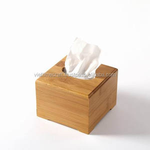 Bamboo square boutique tissue box / high quality bambooware