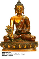 copper finish bronze Medicine Buddha