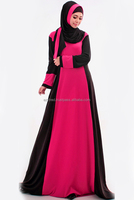 Mix Color Jubah Dress (Including Shawl)