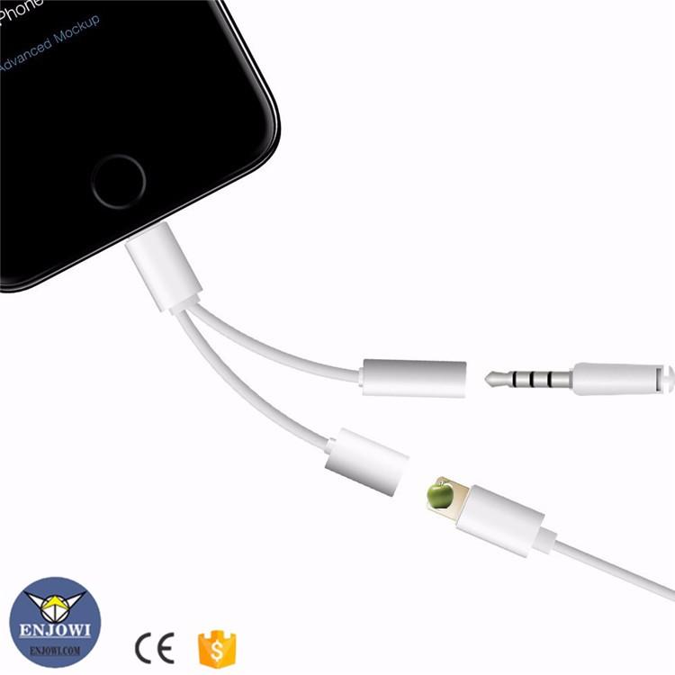 2 в 1 Преобразователь Зарядки наушников быстрая зарядка cablefor iPhone 7/7 плюс наушники адаптер