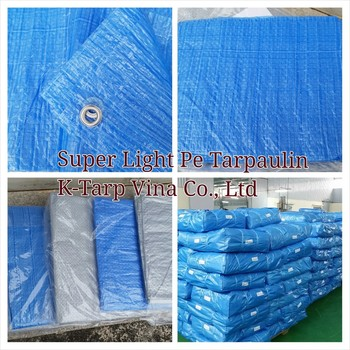 Super Light & cheap PE Tarpaulin 43 GSM, 45 GSM -Made in Viet Nam, Korea Standard