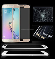 For SAMSUNG GALAXY S6 Edge Screen 3D Curved Tempered Full Cover 9H 3D Edge Tempered Glass Screen Protector