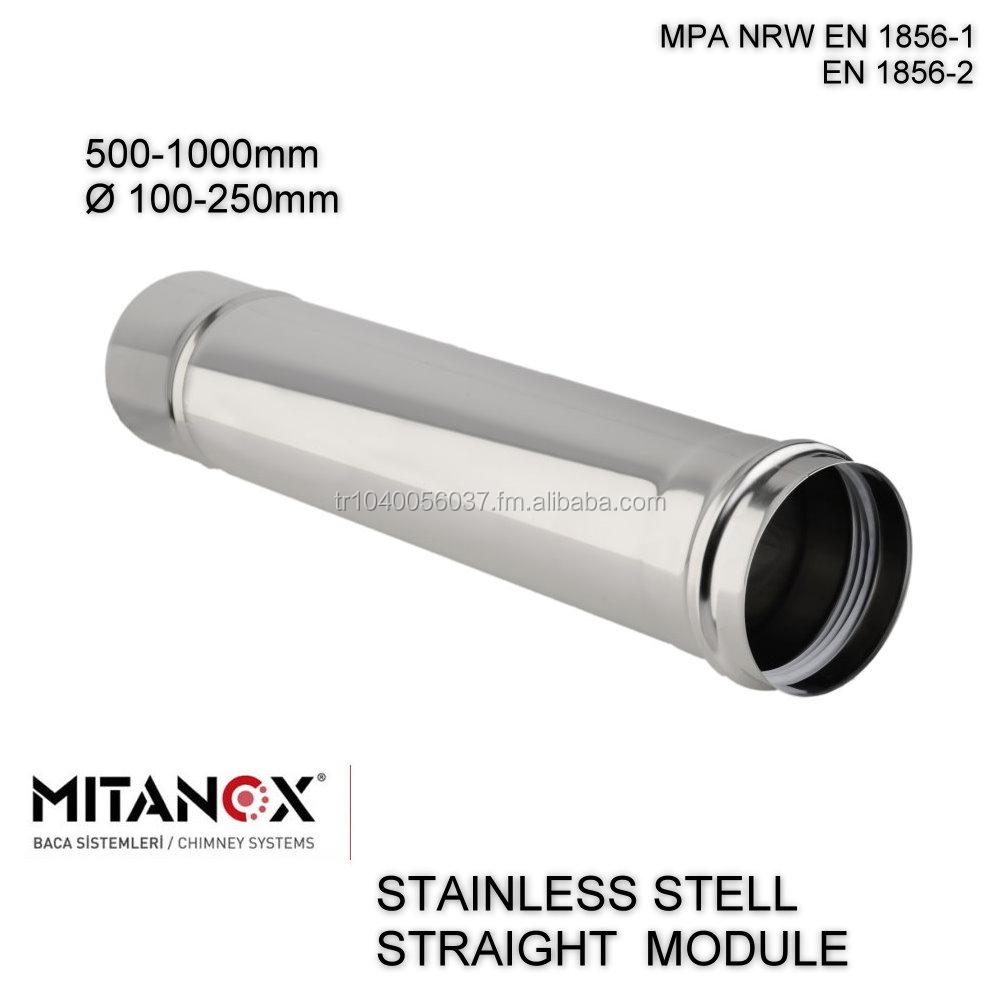 Stainless Steel 304 316l Chimney Flue Pipe Tube Pellet Stove Pipe ...