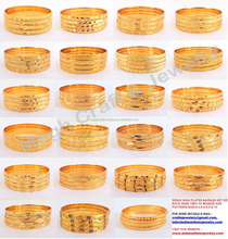 Indian imitation bangles - one gram gold jewelry - indian gold plated imitation bangles - indian traditional bangles