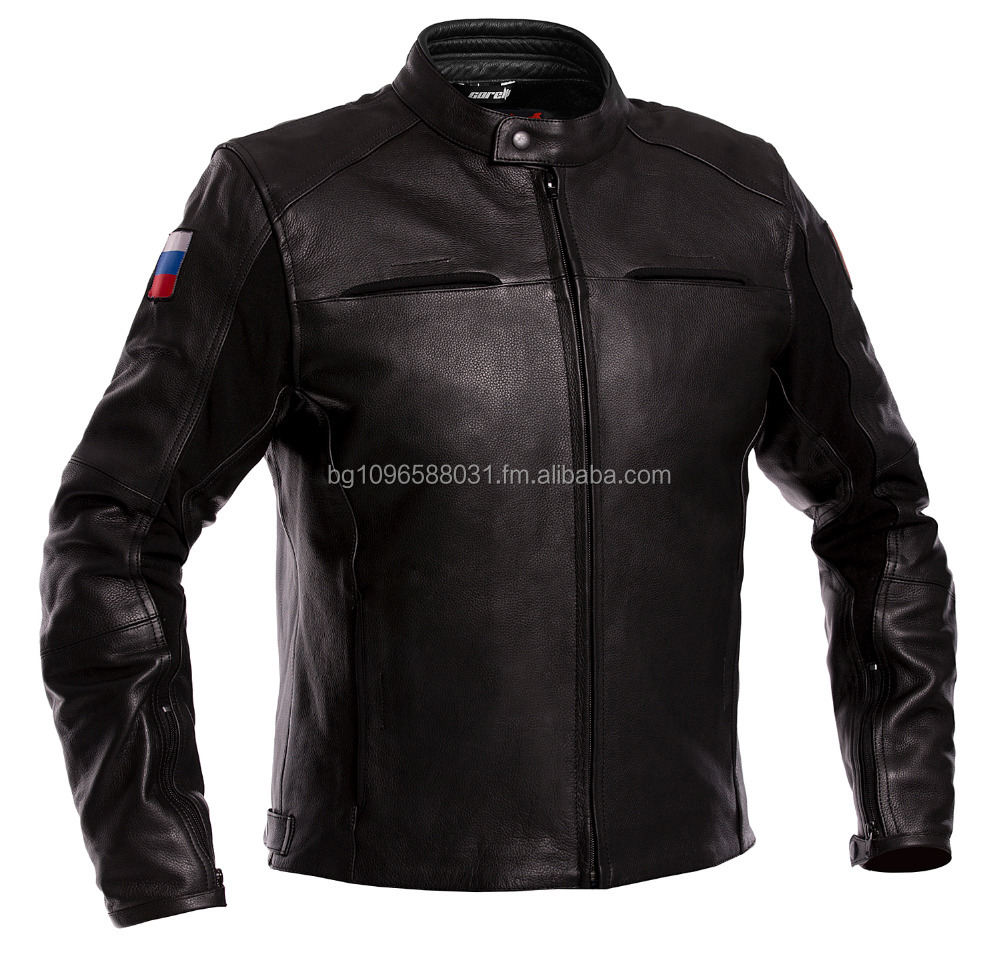 Russia Biker Leather Jacket