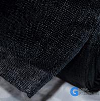 Mantes Sinamay Fabric Black