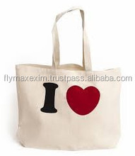 India wholesale reusable shopping bag canvas shopping bag stylish printable jute bag