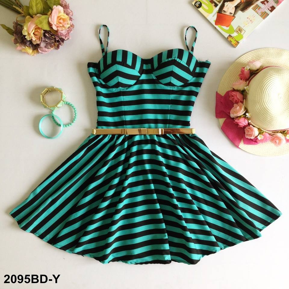 Stripe Bustier Dress