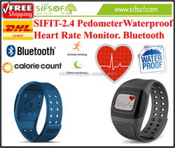 SIFIT-2.4 Bluetooth Pedometer, Steps Walked Keep Record Every 1 Minute, Activity Tracker Call Reminder, Heart Rate Monitor