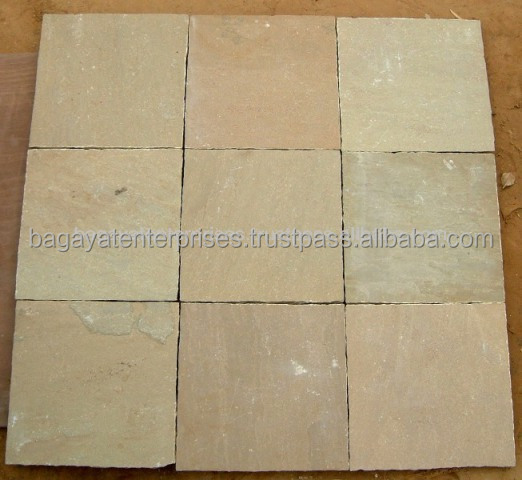 Calibrated Raj Green Sandstone Paving slabs
