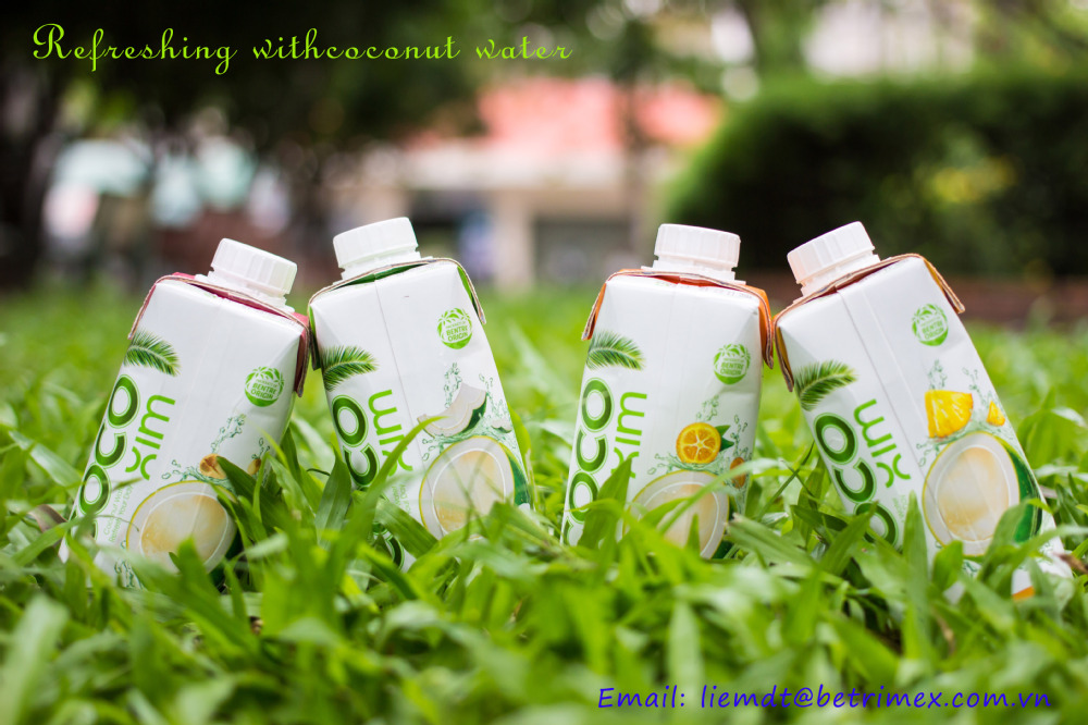 Natural Coconut Water in Tetra - FMCG Vietnam