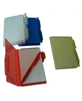 Translucent plastic note pad with pen