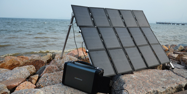 Portable 500W off-Grid Solar Power Generator with LIthium-Ion Battery