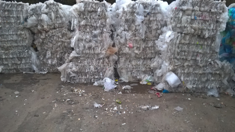 LDPE/LLDPE FILM 98/02 scraps consumer recycled plastic scraps