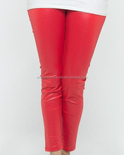 Classic Red Leggings Stylish Leather Pant Women