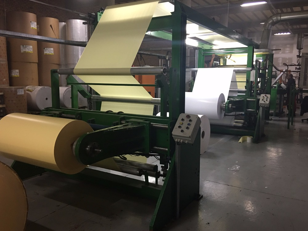 Hotmelt Coater laminator to laminate self adhesive labelstock
