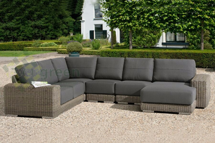 Evergreen Wicker Furniture - Thickness cushion Outdoor Furniture Rattan Sofa Set