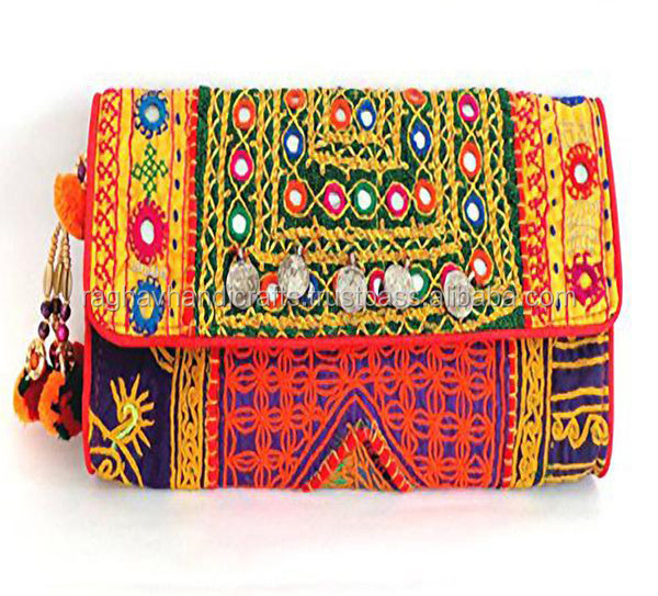 Handmade Banjara Belly Clutch Bag Indian Tribal Asian Handmade Vintage Bag Ladies Coin Purse Wholesale