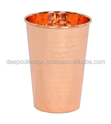 100% Pure Solid Copper Hammered Julep Cup