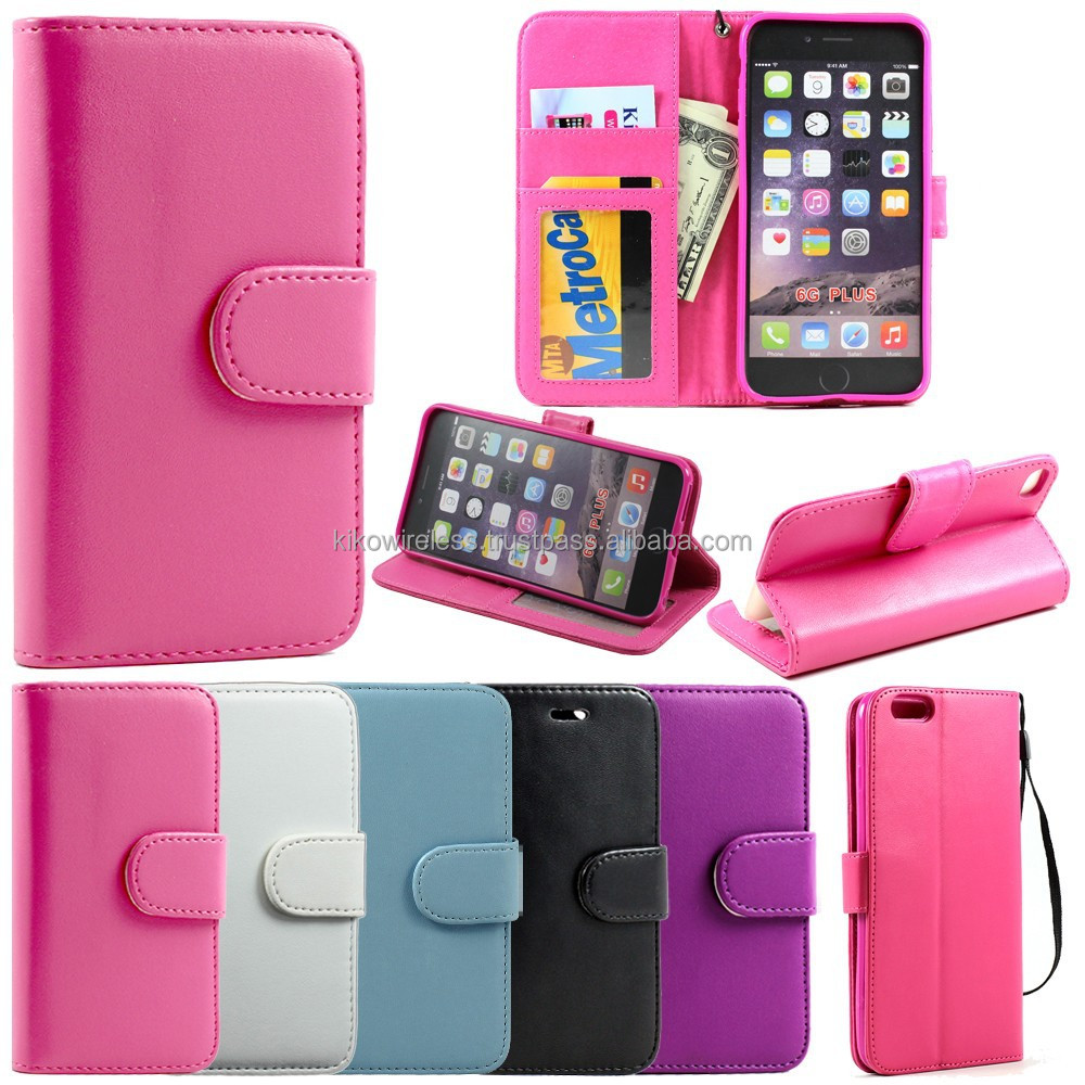 Magnetic Premium Flip Leather Wallet Card Stand Cover Case For 6 Plus New