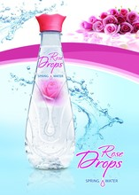 Spring water with organic rose oil