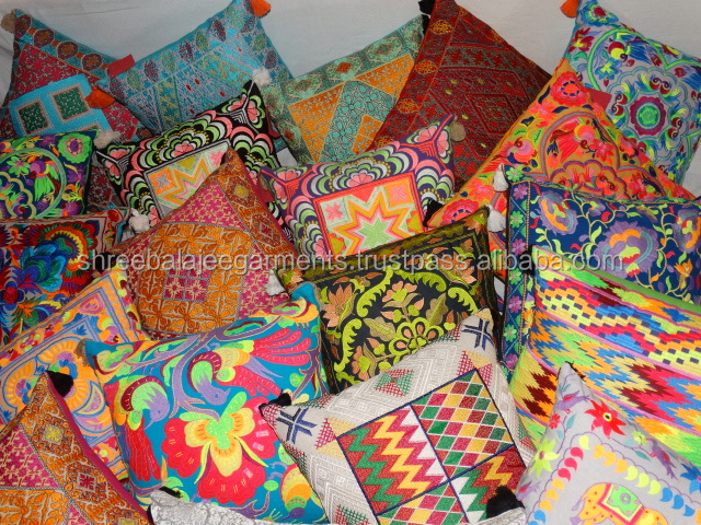 Embroidery Designs Wholesale Decorative Pillow Covers Sofa Cushion Cover