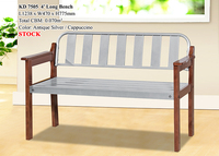 Wooden/Metal Long Bench 4'