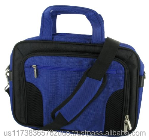 roocase 13.3 inch deluxe carrying laptop bag with Padded netbook compartment with velcro strap, Big storage compartments (Blue)