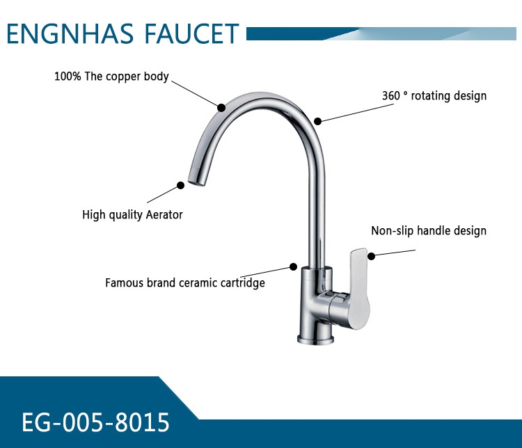 New invention 2016 bathroom home and hotel wash upc certificated operator kitchen faucet with great price
