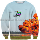helicopter design Crew Neck Hoodies Custom Sublimation Hoodies or sublimation Sweatshirts