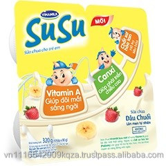 SuSu Yogurt With Banana and Stawberry Flavor/Vinamilk Yogurt