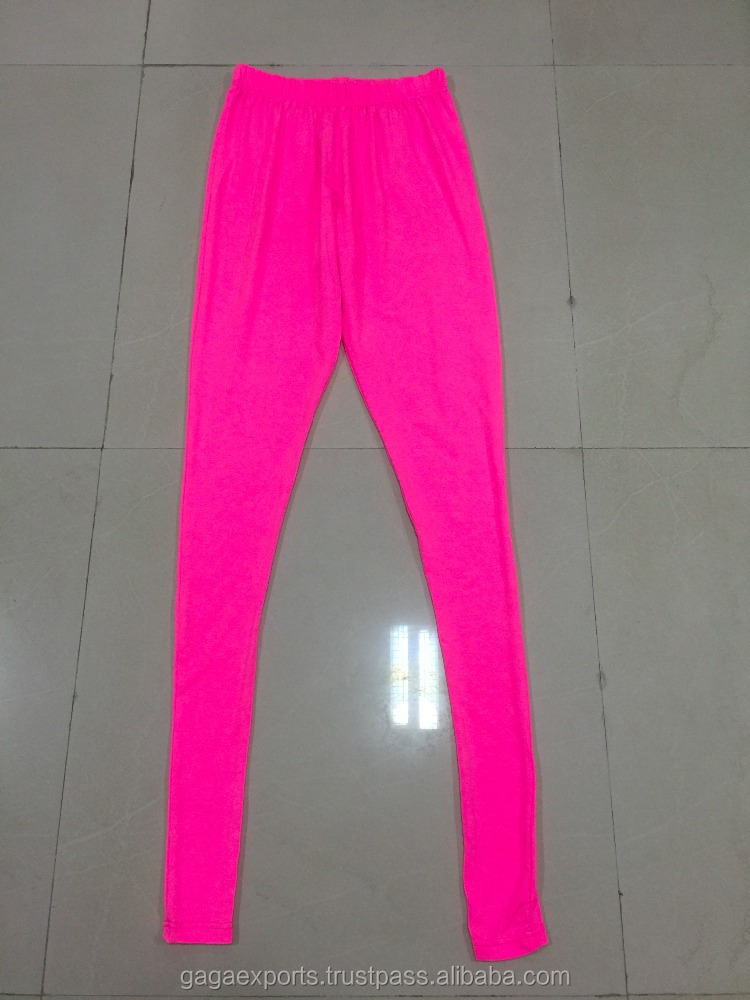 $1.80 PER WOMEN PLAIN COLOURS 95 % COTTON 5% LYCRA (SPANDEX)180 GSM LEGGINGS