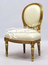 gold leaf carved wooden dining chair