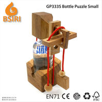 wooden puzzle game Wine Bottle Puzzle