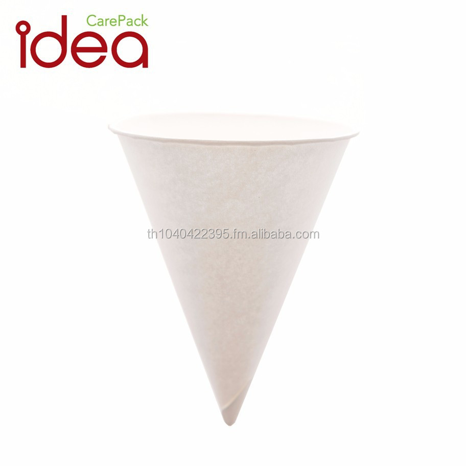 4.0 oz Rolled Rim Paper Cone Cups 4500 pcs