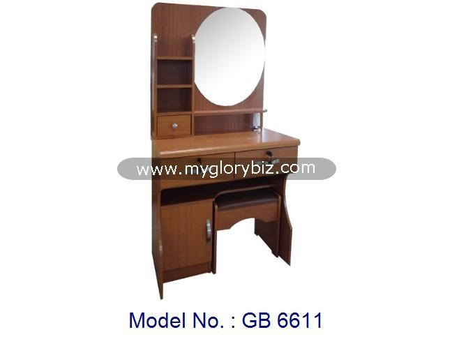 Modern Bedroom Furniture Wooden MDF Dressing Table With New Design, cheap wooden dressing table, dresser furniture from malaysia