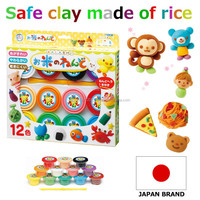 "Japanese and Colorful car modeling technical clay ""Rice Clay,"" a safe product made from real rice Set of 12 colors Children's to"