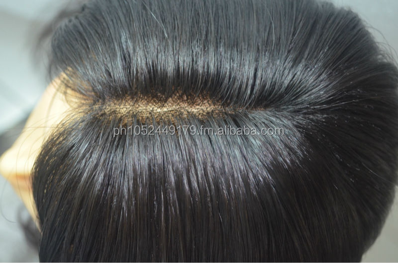 New Natural Wavy Remy hair Glu less Wigs made in the Philippines