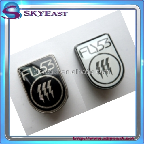 Fashion Relief Engraved Printed Enamel Epoxy Logo Metal Label Plates