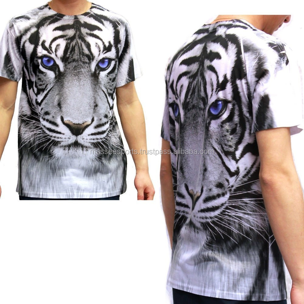 animal printed 3d t shirt for man