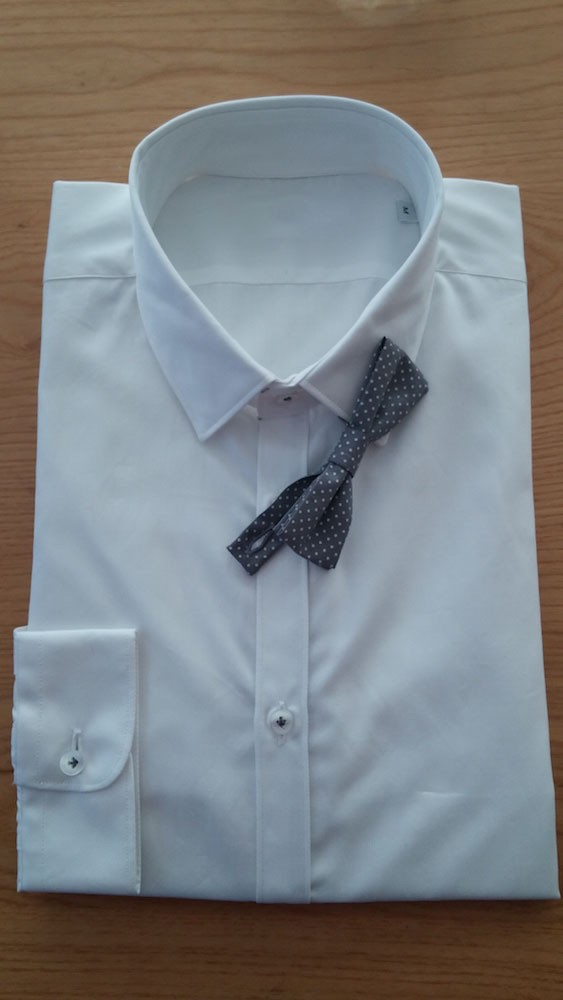 Wedding Dress Shirt MADE IN ITALY Tuxedo Fashion Style 100% Cotton