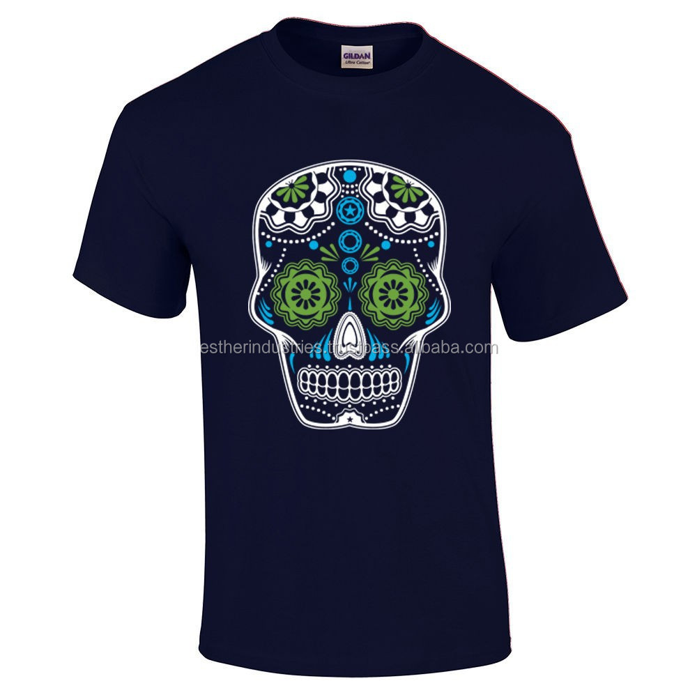 Skull Mens Cotton Tee, T-Shirt Candy, Day Of The Dead /High quality Sublimation Tee/Last day of life