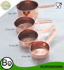 Stainless Steel Copper Plated Measuring Spoon Cup Long Handle Set Of 4