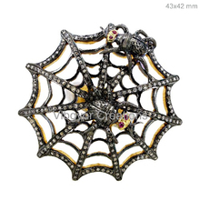 Spider Ring gemstone pave diamond ring 92.5 sterling silver wholesale ring