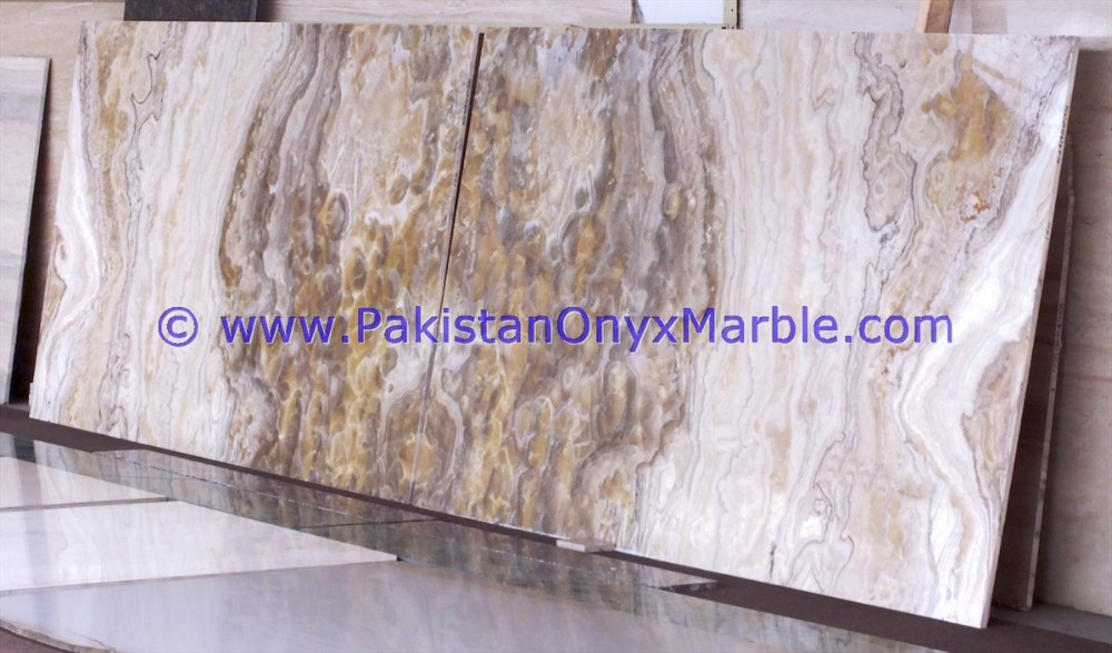 NATURAL STONE TRAVERTINE ONYX SLABS CROSS VEIN CUT SLABS COLLECTION