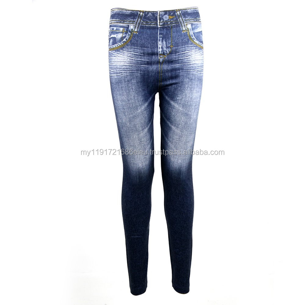 Zynelle Korean Denim Jeans Jeggings Ladies Slim Leggings