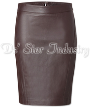 Soft Sheep Leather Pencil Skirts