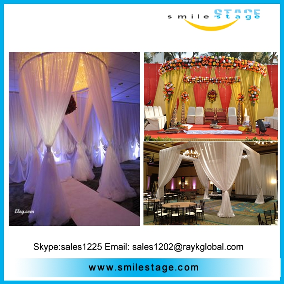 wedding photo booth pipe and drape support