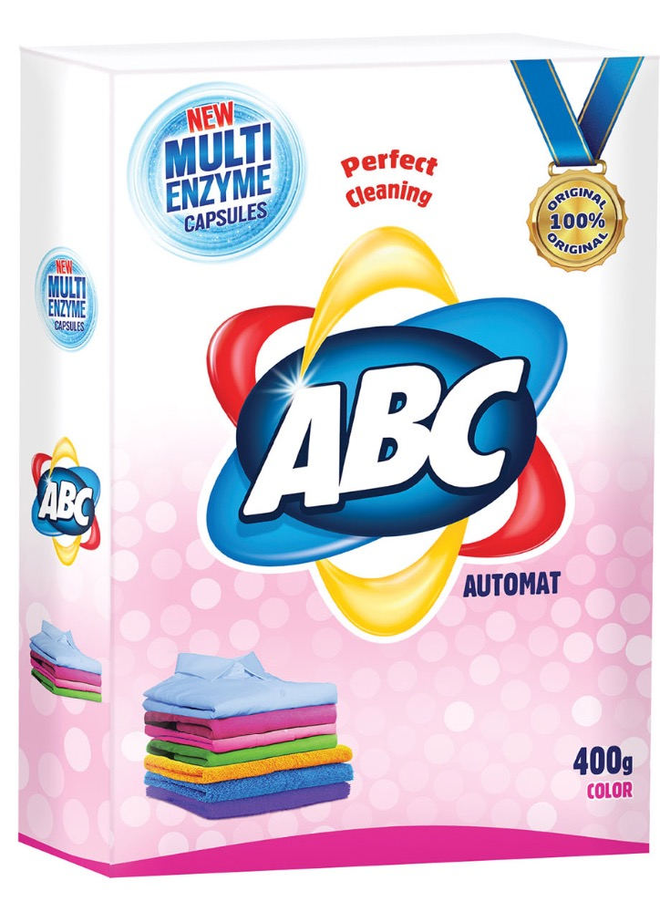 ABC Automat Detergent 400 g x 18 Color - Box